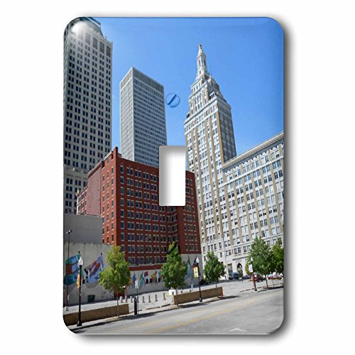 3dRose Cities Of The World - City Of Tulsa, Oklahoma - Light Switch Covers - single toggle switch - Oklahoma City Outlet