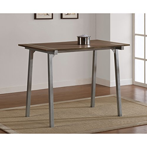 tabouret metal and wood tall kitchen breakfast dining table. Black Bedroom Furniture Sets. Home Design Ideas