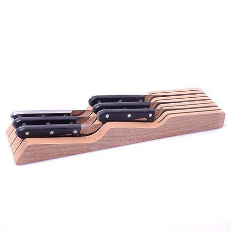 Diseño de bloque de cuchillos de bambú en la gaveta para ...