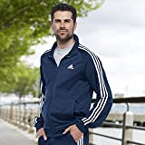 adidas Men's Essentials 3-Stripe Tricot Track Jacket, Collegiate Navy/White, XX-Large