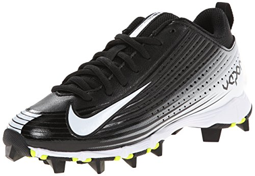 NIKE Boy's VPR Keystone 2 Low BG WD Baseball Cleat Black/White Size 4 M US Athletic Baseball Cleats
