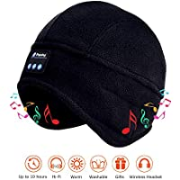 Maxee Beanie Mens Bluetooth Headphones Hat Outdoor Sports Women Skiing Cap with V5.0 Stereo Speakers Wireless Headset