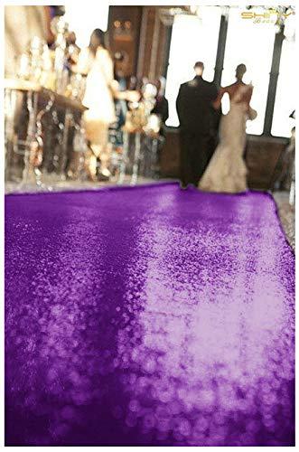 ShinyBeauty Wedding Aisle Runner-25FTX4FT-Purple,Sequin Aisles Floor Runner,Sequin Carpert Runner,Glitter Carpet Aisle -