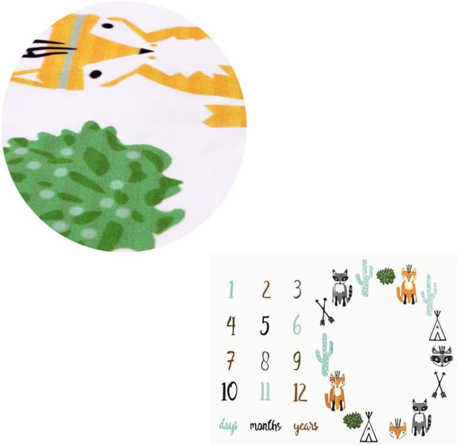 NUOBESTY Beb/é Manta Hito Mensual Accesorios de Tel/ón de Fondo de Fotograf/ía Fotogr/áfica Reci/én Nacida para Ni/ño Ni/ña Suministros de Baby Shower para Beb/és 100X100cm