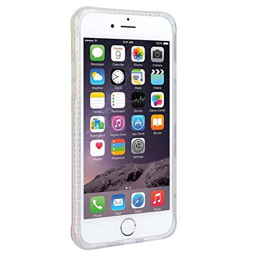 WE LOVE CASE iPhone 6 Plus / 6S Plus Coque, Étui Transparente de Protection en Premium Silicone Housse Souple Mince et Clair, Bumper Gel Bling Cas Briller Couverture Paillette Motif Diamante Brilliant