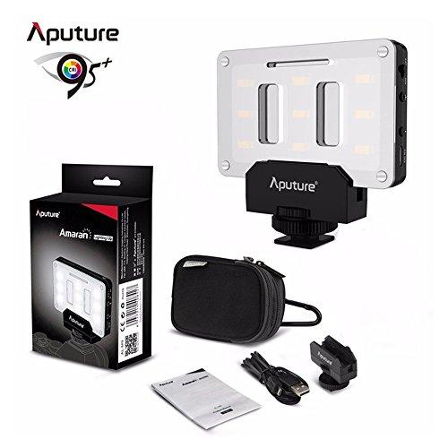 Aputure AL-M9 on Camera Daylight Mini LED Light Pocket sized LED Fill Light 5500K with 9pcs SMD light Beads for DSLRs by Aputure