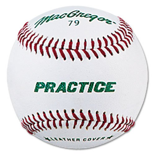 MacGregor Practice Baseballs, Youth, Leather (One Dozen) (Macgregor Leather)