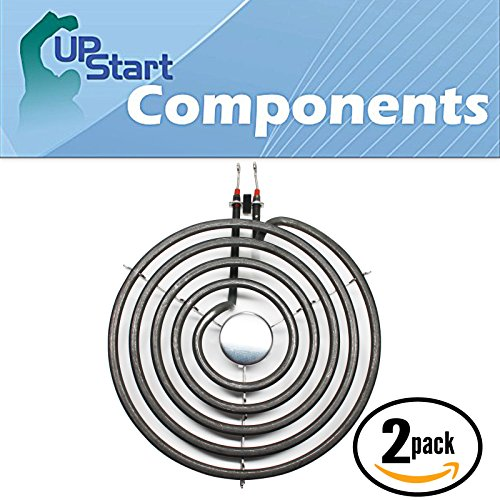 2-Pack Replacement Caloric EST3102L 8 inch 5 Turns Surface Burner Element - Compatible Caloric 9761345 Heating Element for Range, Stove & Cooktop