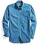 Goodthreads Men's Standard-Fit Long-Sleeve Denim Shirt, Medium Blue, XX-Large