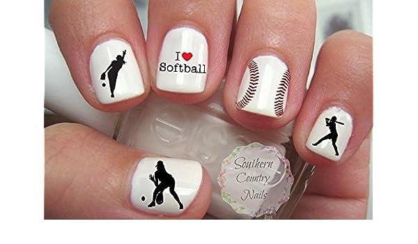 Amazon.com : Gift Set of 200 Sports Softball Nail Art Designs Decals :  Beauty - Amazon.com : Gift Set Of 200 Sports Softball Nail Art Designs Decals