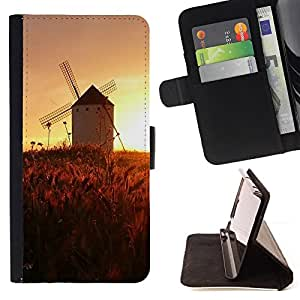 Jordan Colourful Shop - Sunset Beautiful Nature 45 For Sony Xperia Z1 Compact D5503 - < Leather Case Absorci????n cubierta de la caja de alto impacto > -