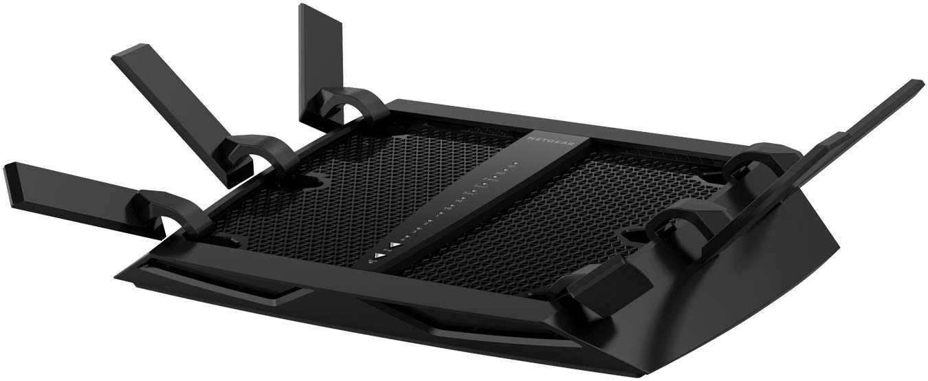 NETGEAR Nighthawk X6 Smart WiFi Router (R8000) - AC3200 Tri-band Wireless Speed (up to 3200 Mbps) | Up to 3500 sq ft Coverage & 50 Devices | 4 x 1G Ethernet and 2 USB ports | Armor Security