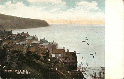 (Robin Hood's Bay Whitby, England Original Vintage Postcard)
