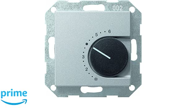 GIRA 039126 Aluminio termoestato - Termostato (Aluminio, Analógico, 5-30 °C, 10 A): Amazon.es: Bricolaje y herramientas