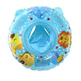 UClever Inflatable Baby Float Swimming Ring Animal for Baby 6-36 Months (Blue)
