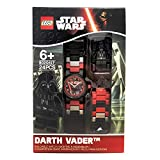 LEGO Star Wars Darth Vader Kids Buildable Watch with Link Bracelet and Minifigure | black/red | plastic | 28mm case diameter| analog quartz | boy girl | official