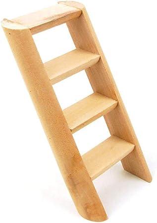 zhengao - Escalera de Madera para pájaros y roedores de hámster, 15 cm, Ideal para decoración del hogar: Amazon.es: Hogar