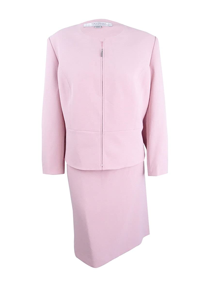 c32893c537756 Amazon.com: Tahari ASL Women's Plus Size Peplum Skirt Suit (22W, Palm  Pink): Clothing