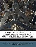 A List of the Brazilian Echinoderms, Richard Rathbun, 1178969347