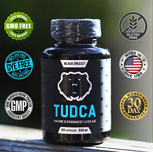 Black Grizzly Maximum Strength TUDCA 500 MG (Tauroursodeoxycholic Acid) - 500 MG Per Serving for Ultimate Liver Support & Immune Health -Nature's Strongest Liver Aid- 60 Serv by Black Grizzly (Image #4)