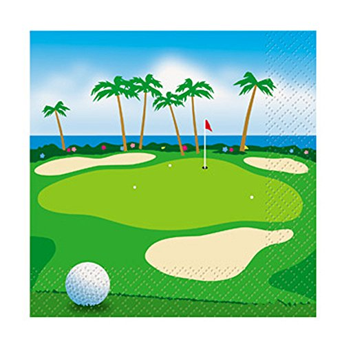 Golf Small Napkins (24ct) (24k Golf)
