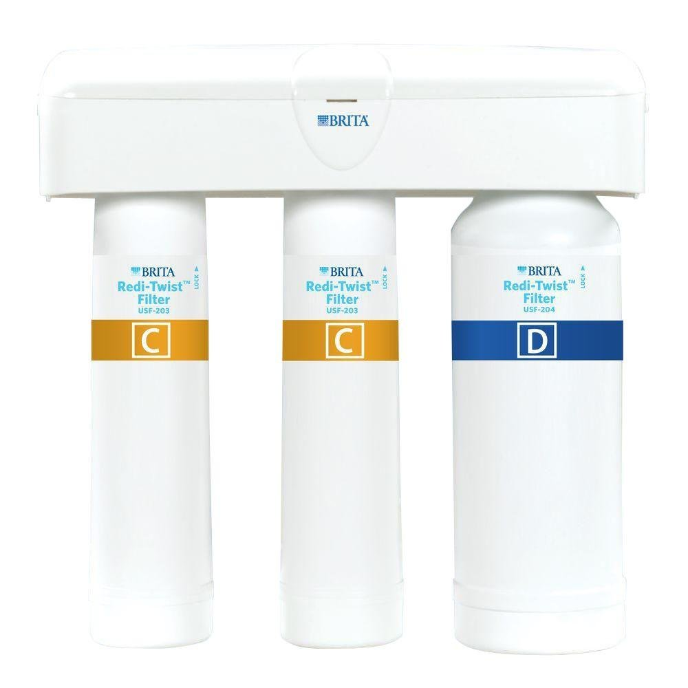 Brita Redi-Twist Purifier 3-Stage Drinking Water Filtration System by Brita
