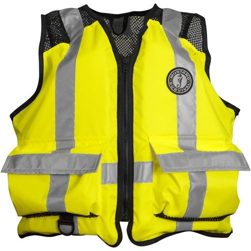 Mustang High Visibility Industrial Mesh Vest - SM/MED - Yellow/Black by Mustang Survival   B00GKNNGUM