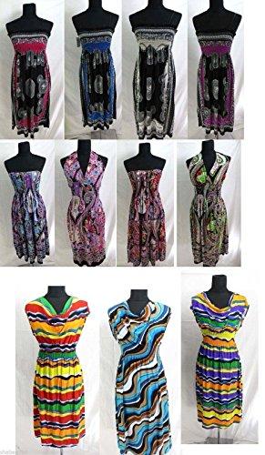 Wholesale Lot 30 Womens Mixed Dresses Summer Boho Apparel Men Tshirts S M L XL by Variety