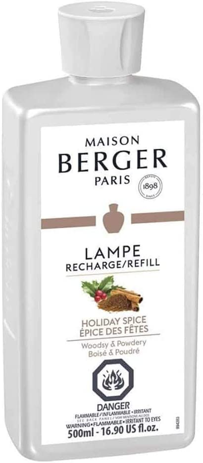 Holiday Spice - Lampe Berger Fragrance Refill for Home Fragrance Oil Diffuser - 16.9 Fluid Ounces - 500 milliliters