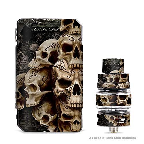 (IT'S A SKIN Decal Vinyl Wrap for VooPoo Drag Mini & UForce T2 Tank Vape Sticker Sleeve Cover/Wicked Skulls Tattooed)