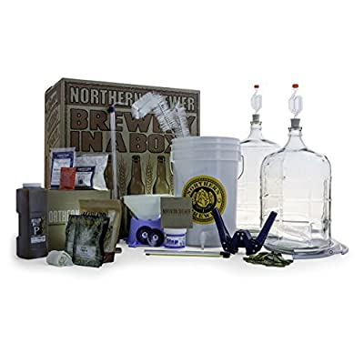 Northern Brewer Deluxe Homebrew Starter Kit & Beer Brewing Recipe Kit - Glass Carboys Fermenter With Equipment For Making 5 Gallons Of Homemade Beer by Northern Brewer