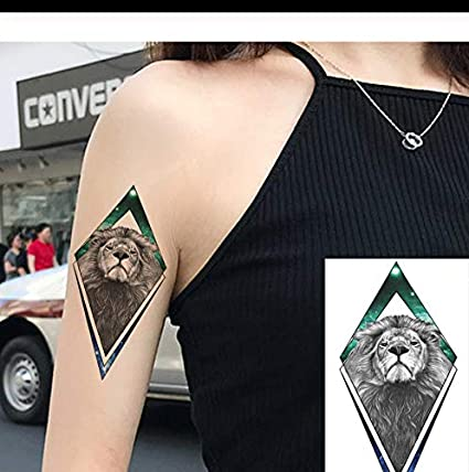 LFVGUIOP Brazo Galaxy África León Animales Flash Falso Tatuaje ...