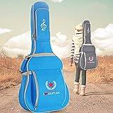 Andoer 600D Water-resistant Oxford Cloth 10mm Sponge Cotton Padded Guitar Bag Backpack Shoulder Straps Pockets Gig Case for 41Inchs Acoustic Classic Folk Guitar