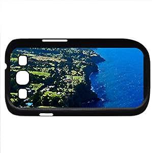 Hamakua Coast Big Island Hawaii (Beaches Series) Watercolor style - Case Cover For Samsung Galaxy S3 i9300 (Black)