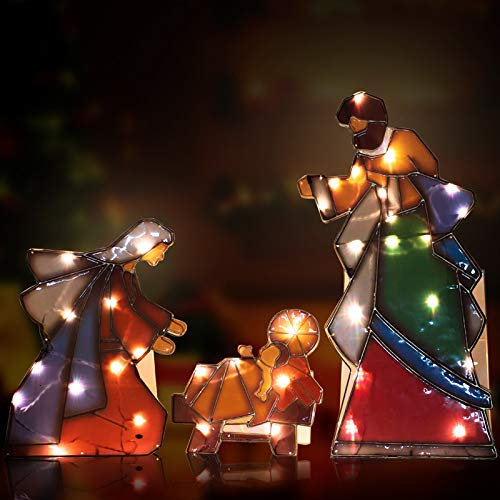 Outdoor Lighted Nativity Scene Decoration in US - 9