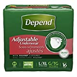 Depend Adjustable Incontinence Underwear, Maximum Absorbency, Large/X-Large, 16 Review and Comparison