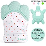 *Limited Offer* - Liname Teething Mitten for Babies with Bonus Teething Toy & eBook - Safe (BPA...