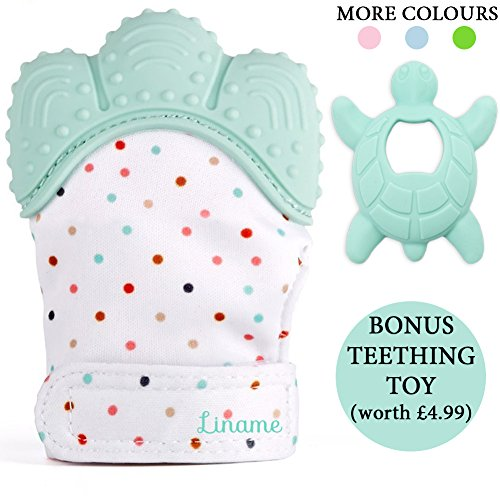 *LIMITED OFFER* - Liname Teething Mitten for Babies with BONUS Teething Toy...