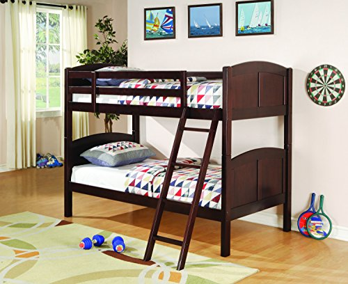 - Coaster Home Furnishings Parker Twin Over Twin Panel Bunk Bed Chestnut