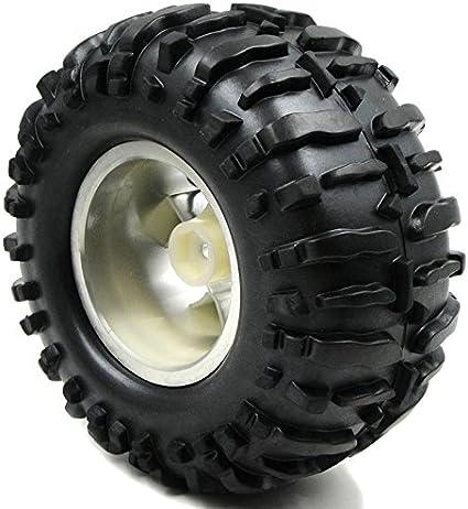 2pcs RC 2.2 Slick Street Bigfoot Tires Height 108mm /& 2.2 Truck Wheels Hex 12mm