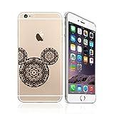iPhone 5 / 5S / SE, Cute Animal Mandala Lace Pattern Ultra Slim Silicone Phone Case Back Cover