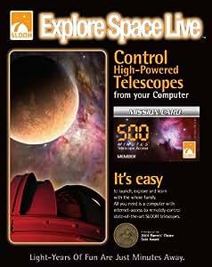 Slooh Telescope 500 Minute Mission Card