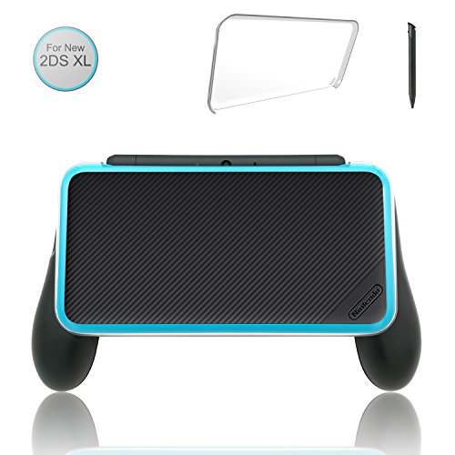 [Updated] Hand Grip for Nintendo 2DS XL with 1 Stylus and 1 Clear Case for Nintendo 2DS XL (New 3ds Grip)