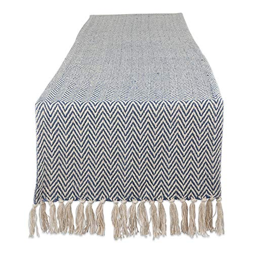 DII Braided Farmhouse Table Runner, 15 x 72 inches, French Blue]()
