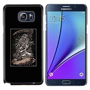 "Be-Star Único Patrón Plástico Duro Fundas Cover Cubre Hard Case Cover Para Samsung Galaxy Note5 / N920 ( Grim Reaper Scythe Cartel Negro"" )"
