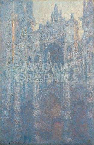 McGaw Graphics The Portal of Rouen Cathedral in Morning Light, 1894 by Claude Monet, Art Print Poster, Paper Size 14