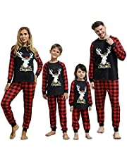 Linnhoy Matching Family Pajamas Set, Christmas Pjs for Women/Men/Kids 2-Pieces/ Baby Onesies