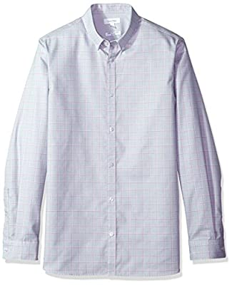 Calvin Klein Men's Infinite Cool Long Sleeve Button Down Shirt Window Plaid