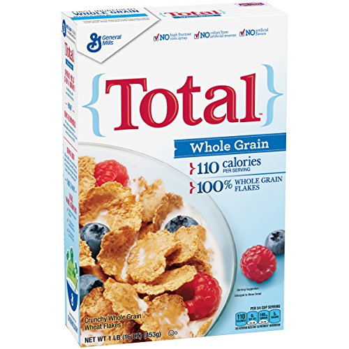 General Mills Whole Grain Cereals - Total Whole Grain Breakfast Cereal, 16 oz Box