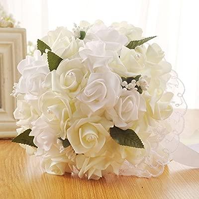 Xlgx Fleurs Artificielles Roses Cristal Perles De Demoiselle